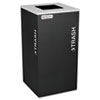 Ex-Cell Kaleidoscope Collection Trash Receptacle, 24gal, Black - RC-KDSQ-TBLX