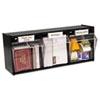 deflect-o® Tilt Bin Plastic Storage System, 3 Bins, 23 5/8 x 7 3/4 x 9 1/2, Black DEF20304OP