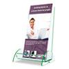 deflect-o® Euro-Style DocuHolder, 4 1/2w x 4 1/2d x 7 7/8h, Clear DEF775383