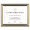 DAX® Antique Colored Document Frame w/Certificate, Metal, 8-1/2 x 11, Silver DAXN1818N2T