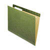 Hanging File Folders, No Tabs, Letter, Standard Green, 25/Box