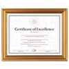 DAX® Antique Colored Document Frame w/Certificate, Plastic, 8 1/2 x 11, Gold DAXN1818N1T