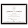 <strong>DAX®</strong><br />Value U-Channel Document Frame w/Certificates, 8 1/2 x 11, Black