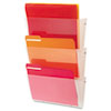 Unbreakable Wall File Set, Letter, Three Pocket, Clear