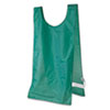 Heavyweight Pinnies, Nylon, One Size, Green, 12/Box