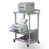 BALT® Max Stax Dual Purpose Printer Stand, Three-Shelf, 25w x 20d x 42-1/2h, Gray BLT25983