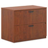 Basyx by HON BL Laminate Two Drawer Lateral File, 35 1/2w x 22d x 29h, Medium Cherry BSXBL2171A1A1