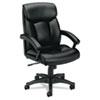 Basyx by HON VL151 Series Executive High-Back Chair, Black Leather BSXVL151SB11