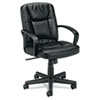 Basyx by HON VL171 Series Executive Mid-Back Chair, Black Leather BSXVL171SB11