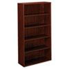 Basyx by HON BL Laminate Series Five Shelf Bookcase, 32w x 13 13/16d x 65 3/8h, Mahogany BSXBL2194NN