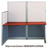 "<strong>Bush®</strong><br />Office in an Hour Collection Straight Workstation, 64.5"" x 32.25"" x 63"", Hansen Cherry, (Box 2 of 2)"