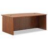 Basyx by HON BL Laminate Series Bow Front Desk Shell, 72w x 42w x 29h, Medium Cherry BSXBL2111A1A1