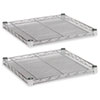 Alera® Industrial Wire Shelving Extra Wire Shelves, 18w x 18d, Silver, 2 Shelves/Carton ALESW581818SR