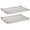 Alera® Industrial Wire Shelving Extra Wire Shelves, 24w x 18d, Silver, 2 Shelves/Carton ALESW582418SR