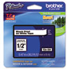 "<strong>Brother P-Touch®</strong><br />TZe Standard Adhesive Laminated Labeling Tape, 0.47"" x 26.2 ft, Black on White"