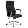 Basyx by HON VL105 Series Executive High-Back Chair, Black Leather BSXVL105SB11