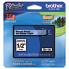 "<strong>Brother P-Touch®</strong><br />TZe Standard Adhesive Laminated Labeling Tape, 0.47"" x 26.2 ft, Black on Clear"
