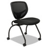 Basyx by HON VL302 Series Mesh Back Nesting Chair, Black, 2/Carton BSXVL302MM10