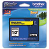 "<strong>Brother P-Touch®</strong><br />TZe Standard Adhesive Laminated Labeling Tape, 0.47"" x 26.2 ft, Black on Yellow"