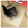 deflect-o® Clear Polycarbonate All Day Use Chair Mat for All Pile Carpet, 46 x 60 DEFCM11442FPC