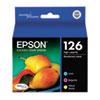Epson® T126520 (126) DURABrite Ultra High-Yield Ink, Cyan/Magenta/Yellow, 3/PK EPST126520
