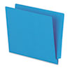 Reinforced End Tab Folders, Two Ply Tab, Letter, Blue,  100/Box