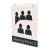 deflect-o® Classic Image Single-Sided Wall Sign Holder, Plastic, 8 1/2 x 11 Insert, Clear DEF68201