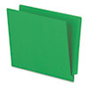Reinforced End Tab Folders, Two Ply Tab, Letter, Green,  100/Box