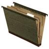 Pendaflex® SureHook Reinforced Hanging Folder, 1 Divider, Letter, 1/5 Tab, Green, 10/Box PFX59253