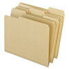 Pendaflex® Earthwise Recycled Colored File Folders, 1/3 Top Tab, Letter, Natural, 100/BX PFX04342