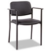 Alera® Alera Sorrento Series Stacking Guest Chair, PVC-Free Faux Leather, Black ALEUT49CS10B