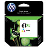 HP 61XL, (CH564WN) High-Yield Tri-Color Original Ink Cartridge