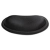 Palm Rest, Memory Foam, Non-Skid Base, 6 x 3-1/4 x 3/4, Black