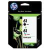 <strong>HP</strong><br />HP 61, (CR259FN) 2-Pack Black/Tri-Color Original Ink Cartridges