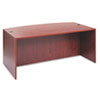 "<strong>Alera®</strong><br />Alera Valencia Series Bow Front Desk Shell, 71"" x 41.38"" x 29.63"", Medium Cherry"