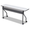 OfficeWorks Mobile Training Table, 60w x 18d x 29h, Gray/Charcoal