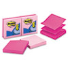"Post-it Pop-up Notes, 3 in x 3 in, Pink - 600 - 3"" x 3"" - Square - 100 Sheets per Pad - Unruled - Pi MMMR3306PNK"