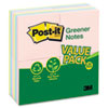 Post-it® Notes Greener Note Pads, 3 x 3, Assorted Helsinki Colors, 100-Sheet, 24/Pack MMM654RP24AP