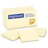 Highland™ Self-Stick Notes, 3 x 3, Yellow, 100-Sheet, 18/Pack MMM654918PK