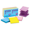 Highland™ Self-Stick Pop-Up Notes, 3 x 3, Assorted Bright, 100-Sheet, 12/Pack MMM6549PUB