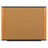 "3M Wide-screen Style Bulletin Board - 48"" Height x 72"" Width - Cherry Cork Surface - Light Cherry Wo MMMC7248LC"