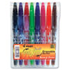 Pilot® FriXion Ball Erasable Gel Ink Stick Pen, Assorted Ink, .7mm, 8/Pack Pouch PIL31569