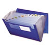 Smead® Expanding File, 12 Pockets, Letter, Blue/Clear SMD70876