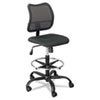 Safco® Vue Series Mesh Extended Height Chair, Acrylic Fabric Seat, Black SAF3395BL