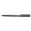uni-ball® Onyx Roller Ball Stick Dye-Based Pen, Black Ink, Fine, Dozen SAN60143