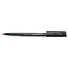 uni-ball® Onyx Roller Ball Stick Dye-Based Pen, Red Ink, Fine, Dozen SAN60144