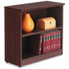 Alera Valencia Series Bookcase, Two-Shelf, 31 3/4w x 14d x 29 1/2h, Mahogany