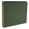"Smead® 1"" Capacity Box Bottom Hanging File Folders, Letter, Green, 25/Box SMD64239"