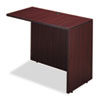 Alera Valencia Series Reversible Return/Bridge Shell, 42w x 23 5/8d. Mahogany