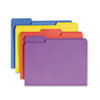 "Smead Colored Folder with Antimicrobial Product Protection - Letter - 8 1/2"" x 11"" Sheet Size - 1/3  SMD10349"